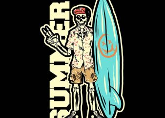 skull on vacation tshirt design