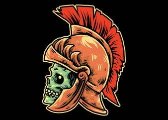 roman skull army tshirt design