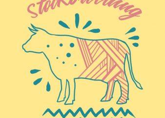 stockbreeding t shirt template vector
