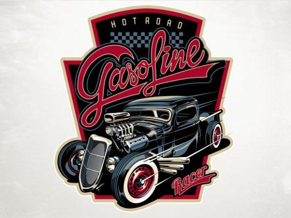 Hot rod graphic t shirt
