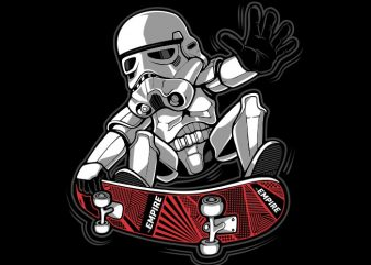 Trooper Trick print ready vector t shirt design