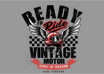 Vintage motor helmet buy t shirt design for commercial use