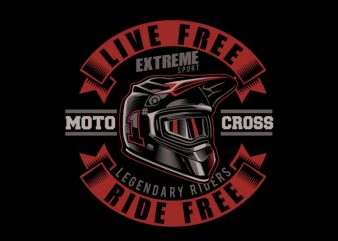 Motorcross helmet t shirt design for purchase