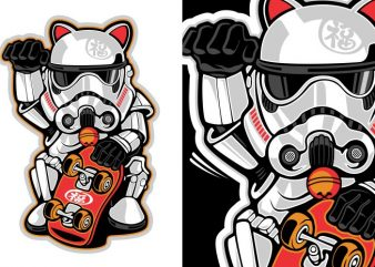 Maneki Trooper t shirt designs for sale