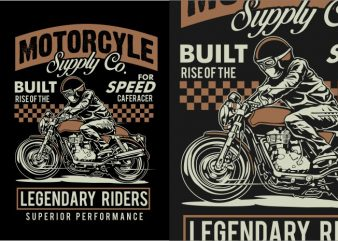 Legendary Riders vector t-shirt design
