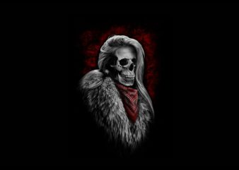 women skull t shirt design for sale