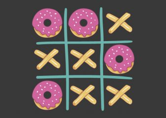 Donuts Game! commercial use t-shirt design