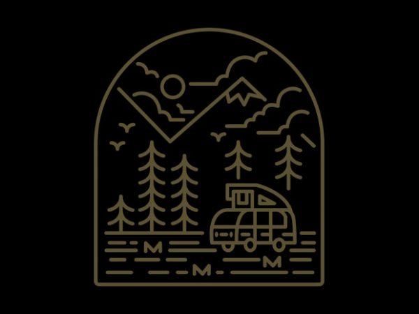 Into the Mountain t shirt design png
