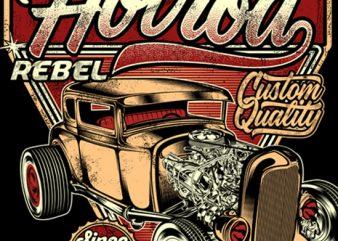 An American Original Hotrod graphic t-shirt design
