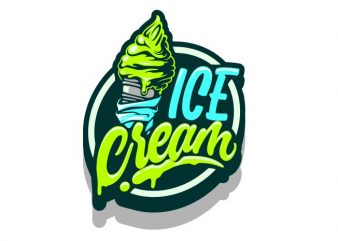 Ice Cream vector t shirt design artwork