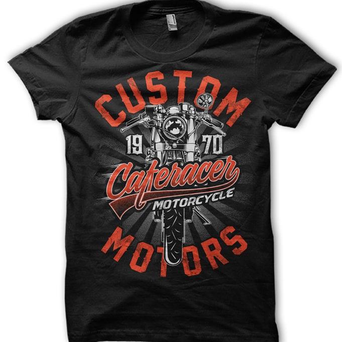 Cafe racer motorcycle buy t shirt design