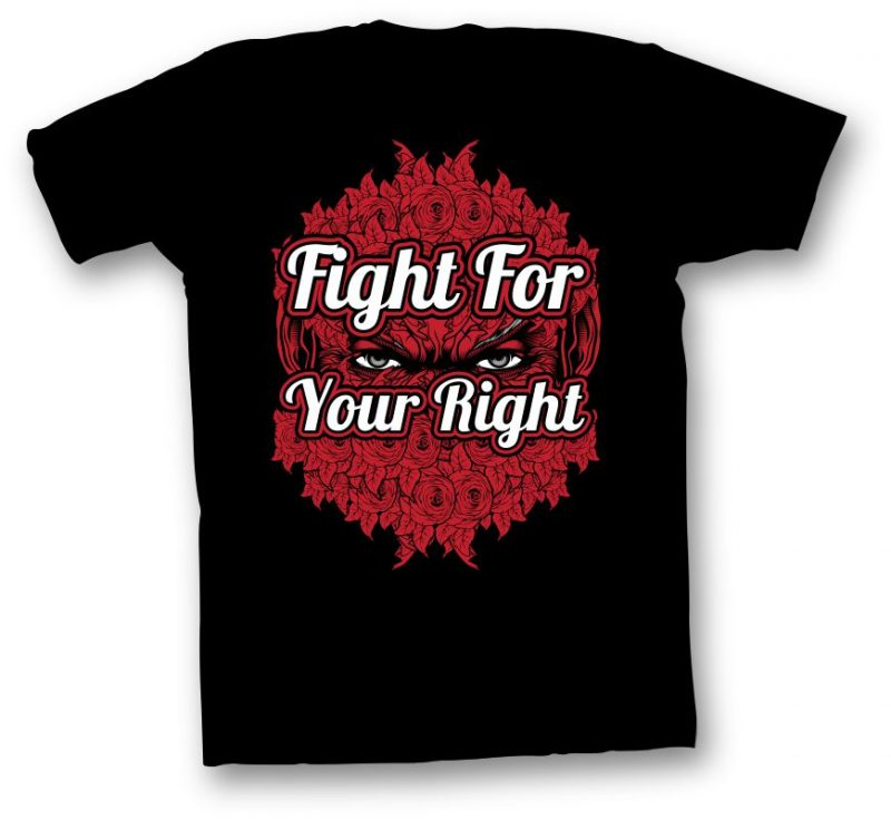 Fight For Your Right t shirt designs for merch teespring and printful