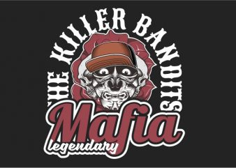 Mafia Killer Bandit t shirt designs for sale