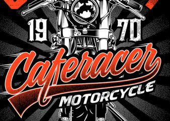 Cafe racer motorcycle t shirt design to buy