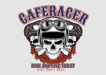 Ride and Life Today vector shirt design