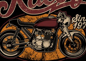 Cafe Racer Just wanna ride t shirt design for purchase