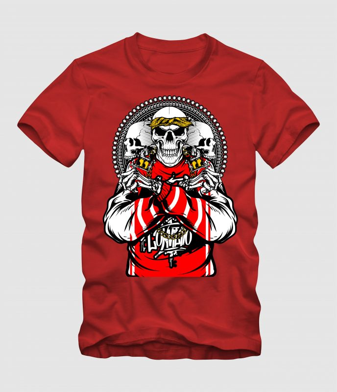 Skull Machine Tattoo t shirt designs for teespring