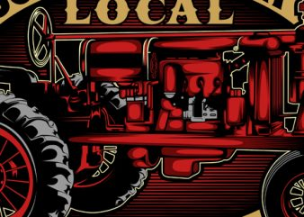 support your local farmer commercial use t-shirt design