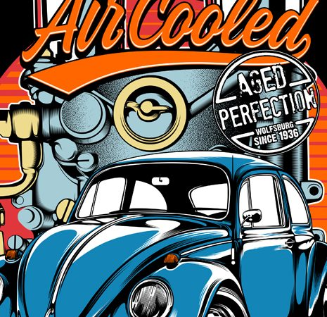 Air Cooled t shirt vector