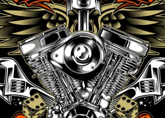 legendary motorcycle t shirt vector graphic