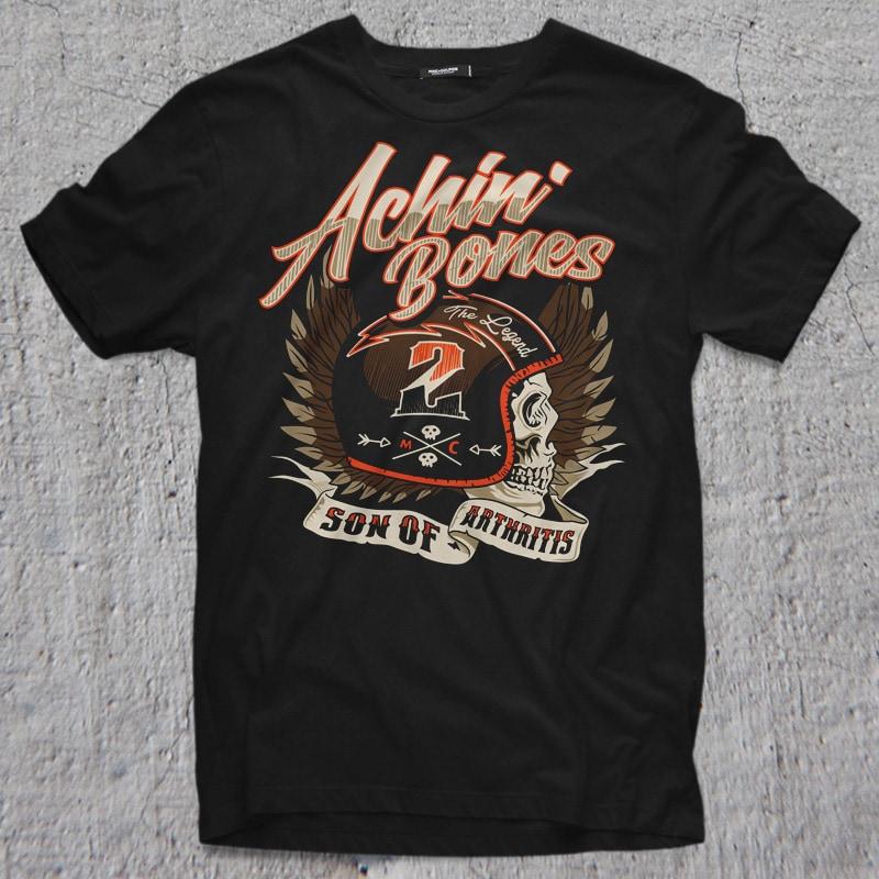 ACHIN BONE t shirt designs for sale