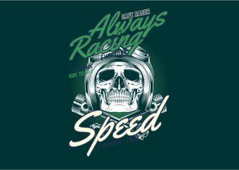 Always Racing buy t shirt design artwork