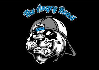 Angry Panda t shirt vector