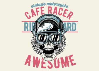 Awesome Cafe Racer buy t shirt design for commercial use