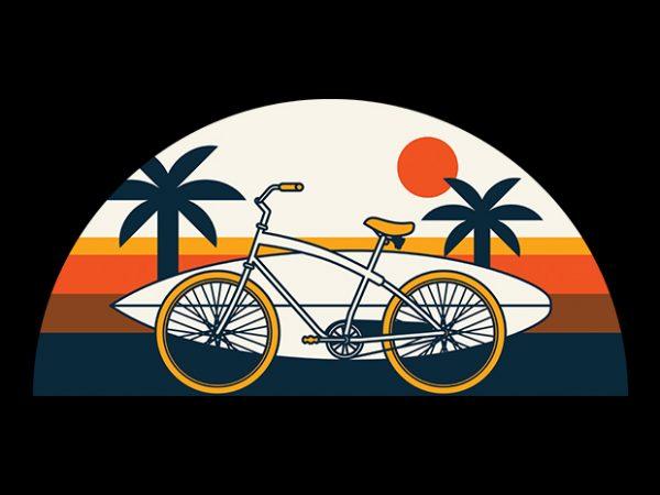 Surf Bike t shirt template vector