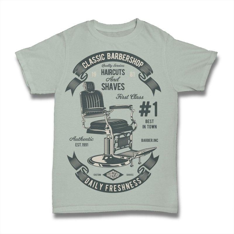 Barberchair tshirt factory