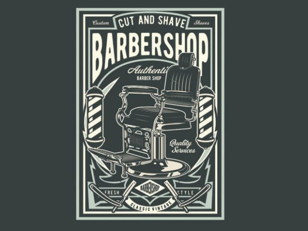 Barbershop t shirt template