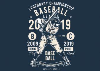 Baseball vector t shirt design artwork