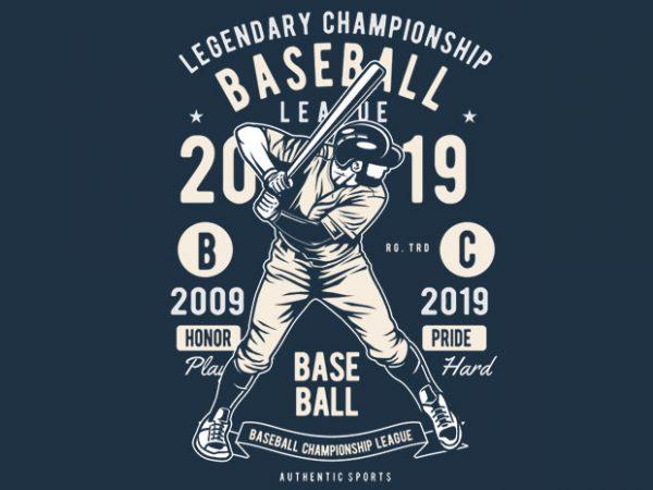 Baseball t shirt template