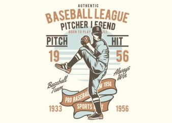 Baseball League vector t-shirt design template