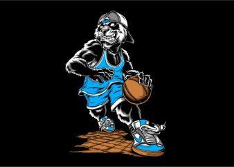 Basketball Beast print ready t shirt design