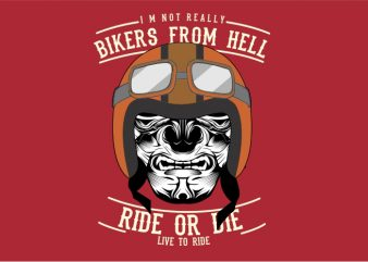 Biker From Hell vector t-shirt design for commercial use