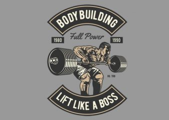 Body Building graphic t-shirt design
