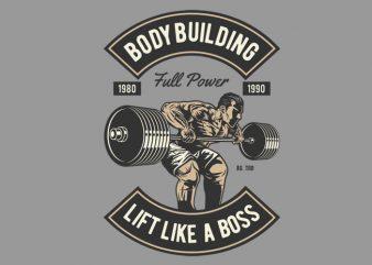 Body Building t shirt template