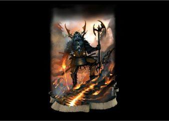 Bushido Samurai War t shirt template