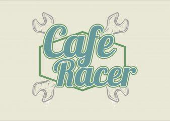 Cafe Racer vector t shirt design for download
