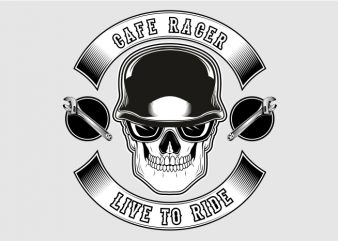 Cafe Racer Live to Ride buy t shirt design