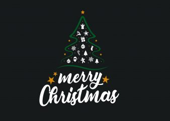 Merry Christmas vector t-shirt design
