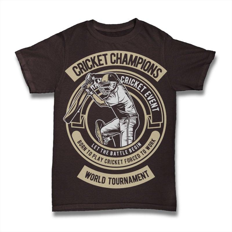Cricket Champions tshirt-factory.com