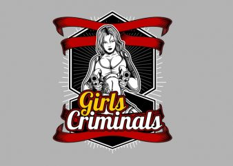 Crimminal Girls t shirt design for purchase