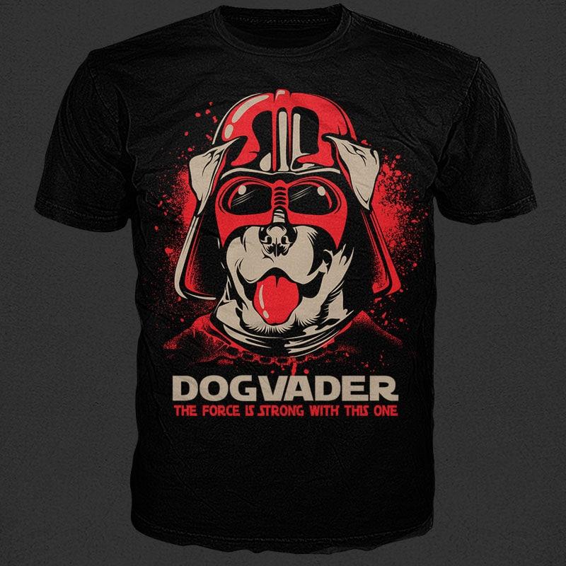 Dog vader tshirt factory