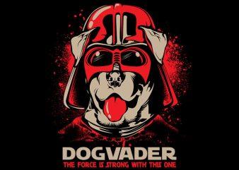 Dog vader commercial use t-shirt design