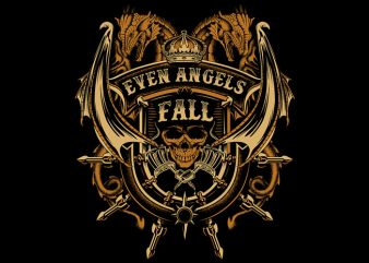 Even Angels Fall vector clipart