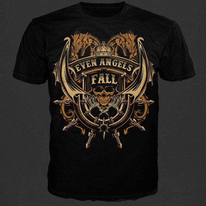 Even Angels Fall vector shirt designs