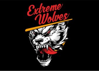 Extreme Wolves vector clipart
