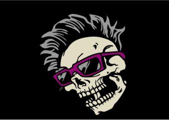 Eyeglasses Skull vector clipart